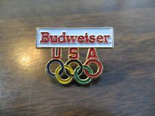 Budweiser USA beer sponsor company logo collectible game olympic advertising pin