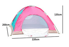 Waterproof Pop up Tent 4 Person Family Dome Tent Camping Beach Hiking Shelter
