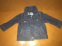 Baby Boys Toddlers Carter's Denim Jean Fall Jacket Coat Size 12 Months Cotton