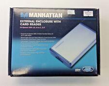 "Manhattan External Enclosure with Card Reader Hi-Speed USB 2.0, 8-in-1, 2.5"""