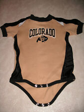 Infant NCAA Colorado Buffaloes CU Gold and Black Bodysuit 12 month
