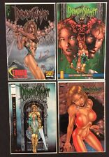 DEMONSLAYER Comic Books #0 SIGNED Marat Mychaels FLIPBOOK Companion FOIL COA NM
