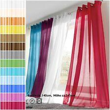 Gardinen Organza Voile Ösen transparent polyester leicht deko 140 x 245 Schal