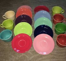Lot of Fiesta Cups and Saucers Multiple Colors
