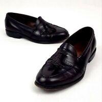 Allen Edmonds 👞 Men's 9 Shoes Harvard Brown Leather Tassel Moc Toe Loafer 👞