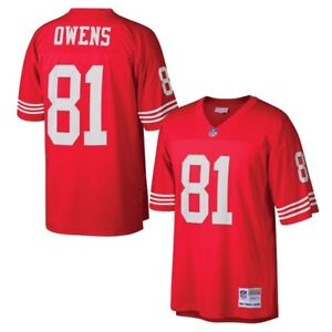 Terrell Owens 2002 San Francisco 49ers Mitchell & Ness Home Red Legacy Jersey