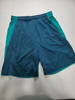 "Mens Nike Training DRI-FIT Shorts Blue/ Teal Men's Size Large 9""L"