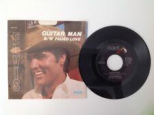 ELVIS PRESLEY: Guitar Man / Faded Love - 1981 - Picture Sleeve - Vinyl 45 - EX