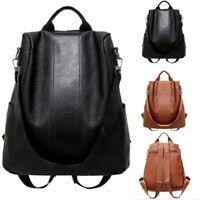 Anti-theft Ladies US Shoulder Leather Backpack Bag Handbag School Women Rucksack
