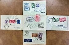 {BJ STAMPS} 1937 AIR FRANCE LETTER ROUND THE WORLD PARIS NY HONGKONG EXHIBITION