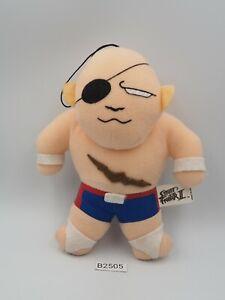 """Street Fighter II SAGAT B2505 Capcom Plush 7"""" Stuffed Toy Doll Japan"""