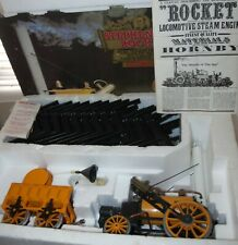 HORNBY LIVE STEAM WITH RAILS STEPHENSON ROCKET COMPLETE SET