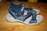 EASY SPIRIT EVERSO CASUAL STRETCH STRAP SANDALS WOMENS SIZE 7