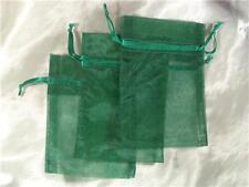 100 4X6 Hunter Green Organza Gift Bag Bag Wedding Favor