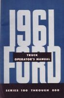 1961 Ford Truck Owners Manual User Guide Reference Operator Book Fuses Fluids
