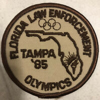 RARE '85 Tampa / Florida Law Enforcement Olympics Patch ~ Police