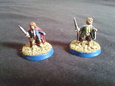 WARHAMMER LOTR - well painted MERRY & PIPPIN - Señor Anillos  - Hobbit