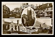 Sussex EAST GRINSTEAD Greetings From M/view RP PPC c1940s?
