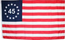 Betsy Ross 45 Premium Quality 100D Woven Poly Nylon 3x5 3/'x5/' Flag Banner