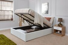 End Lift Faux Leather Ottoman Storage Bed 4 Sizes 3 Colours + Mattress Options