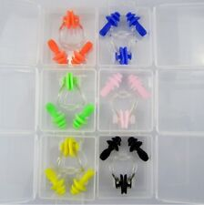 Soft Silicone Swimming Nose Clip Earplug Ear Plug Set In Case Protector Tool