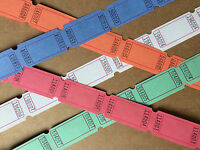 Blank Tickets ~ Party Carnival Fair Wedding Craft Raffle Vintage Style Tokens