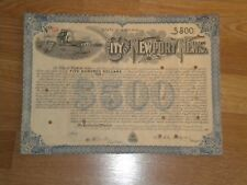 City Of Newport News,Va. $500 Street Paving Bond 1901