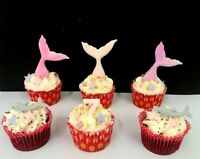 Mermaid tails edible cake decorations/ topper birthday, christening personalised