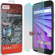 """Pellicola in Vetro Temperato Per Motorola MOTO Moto G 3 (3a Gen) LCD 5,0"""""""