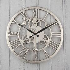 Reloj de Pared de Diseño Industrial de níquel COG alta calidad y única D46cm