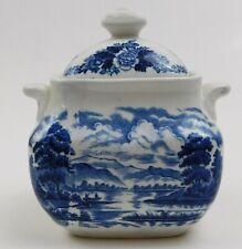 Royal Warwick Lochs Of Scotland Blue Loch Lomond Covered Sugar Bowl