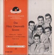 "7"" EP Das Hazy Osterwald Sextett Whisky pur / Tabakera 60`s Polydor E 76 524"