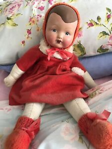 Composite Pot Head Doll From 30/40s
