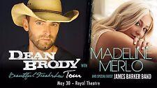 "DEAN BRODY/MADELINE MERLO ""BEAUTIFUL FREAKSHOW TOUR""2017 VICTORIA CONCERT POSTER"