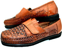 Lions Den by Haband Men's Vintage Brown Loafers Shoe Size 9.5E