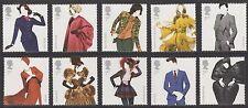 UK Great British Fashion Stamp Set 2012