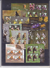 ROMANIA 2016, Natural Reservation, bear, birds, flowers, MNH, klbg US fauna