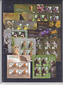 ROMANIA 2016 STAMPS Natural Reservation bear birds flowers MNH sheets fauna