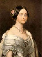 Oil painting Joseph Karl Stieler - maria amalia nice young figures lady canvas