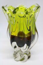 Murano Glas Vase zweifarbig 22 cm