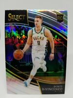 2018-19 Select Donte DiVincenzo #261 Courtside Silver Prizm Bucks Rookie RC SSP