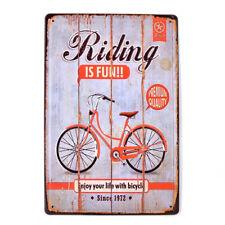 Vintage Tin Metal Signs Riding is Fun Pub Bar Decor Art Wall Hanging