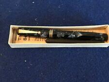 Mabie Todd & Co Swan Leverless Fountain Pen  Rare Pattern