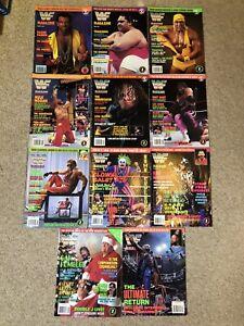 11 WWF (WWE) Magazines 1993, 1994, 1995 & 1996 Lot