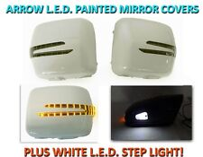 90-02 MBZ W463 G Class Arrow LED Side Painted White Mirror Cover+LED Step Light