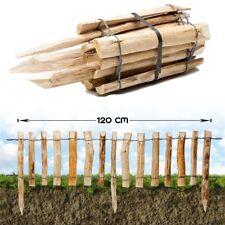 Steckzaun Haselnuss · Beet Einfassung Holz Roll Staketen Zaun Garten Kastanie