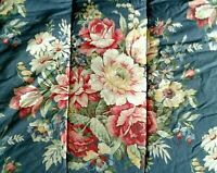 Ralph Lauren FULL/QUEEN Comforter 'KIMBERLY' Floral Pink Yellow White On Blue
