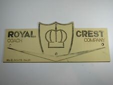 Vintage Royal Crest Travel Trailer Emblem Badge Ornament Camper RV Airstream