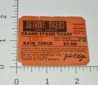 Tiger Stadium VTG Baseball Ticket Stub 1960's 70s Detroit Tigers MLB Grand Stand
