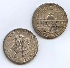 Pair of Nice Old Siamese Tokens (#224). Carefully Check out the Photos.